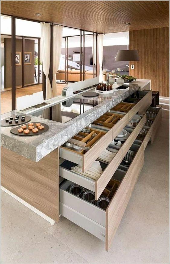 Tủ bếp có ngăn kéo